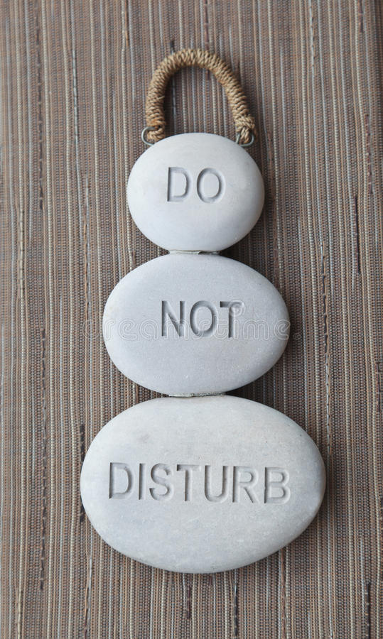 Download Do not disturb sign stock photo. Image of sign, stones - 25244878