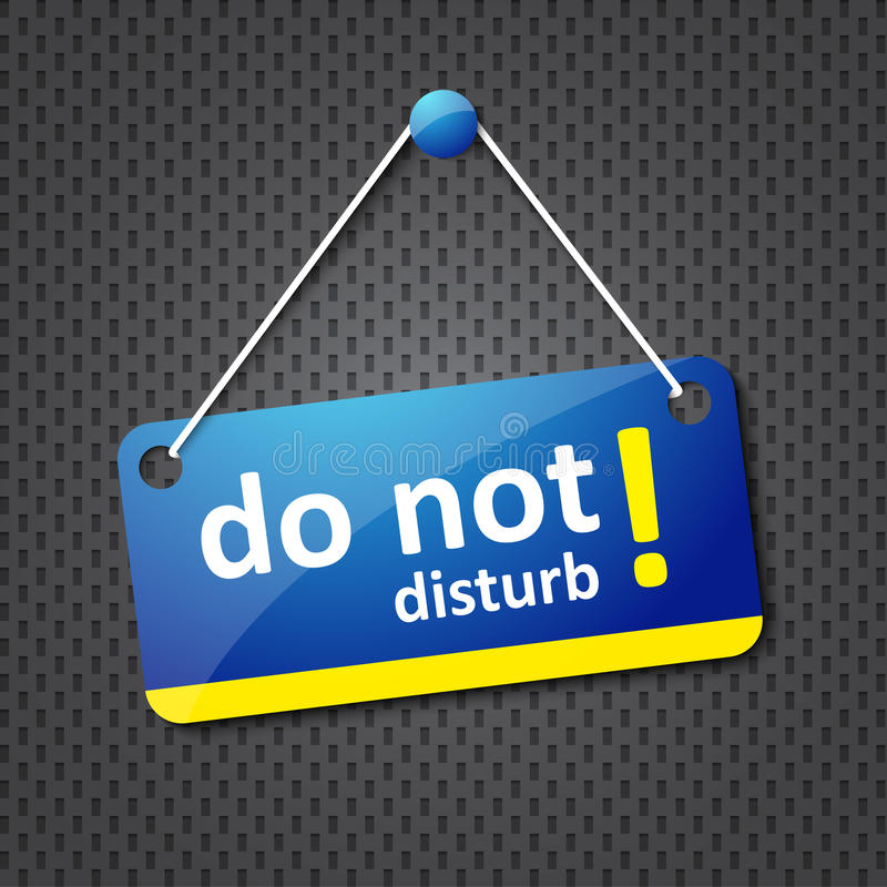 Download Do not disturb sign stock vector. Illustration of business - 25745363