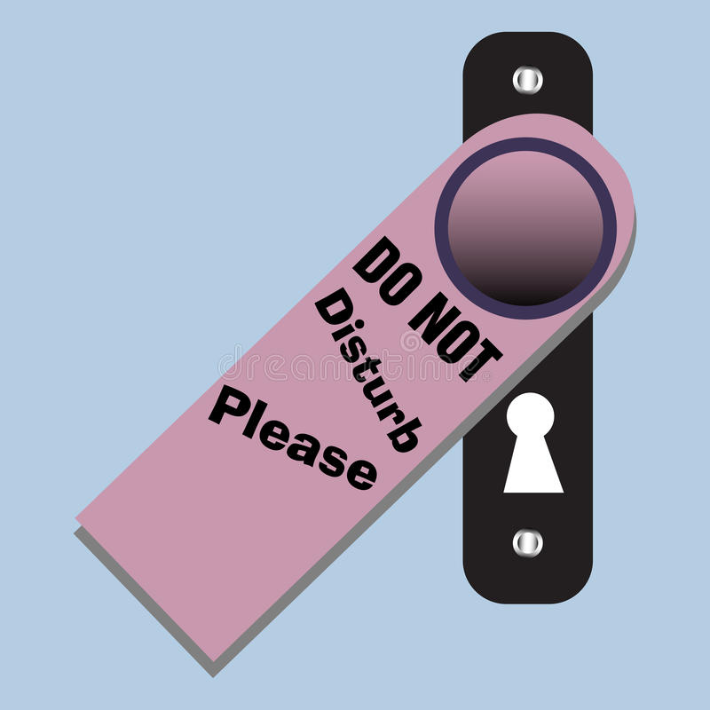 Download Do not disturb sign stock vector. Illustration of image - 28125394