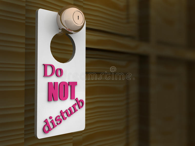 Download Do Not Disturb Sign stock illustration. Image of corridor - 29408942