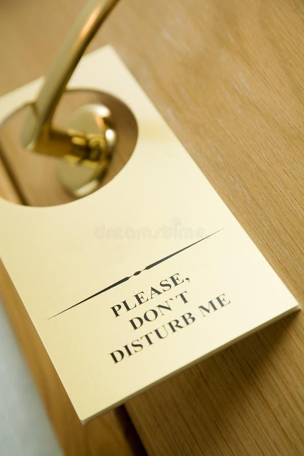 Do not disturb sign on the door stock photo