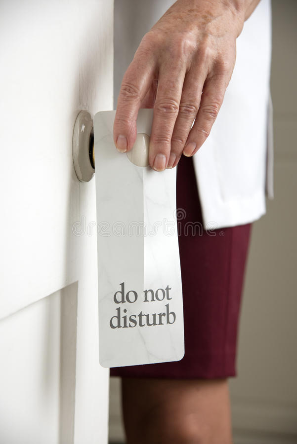 Do not disturb sign royalty free stock image
