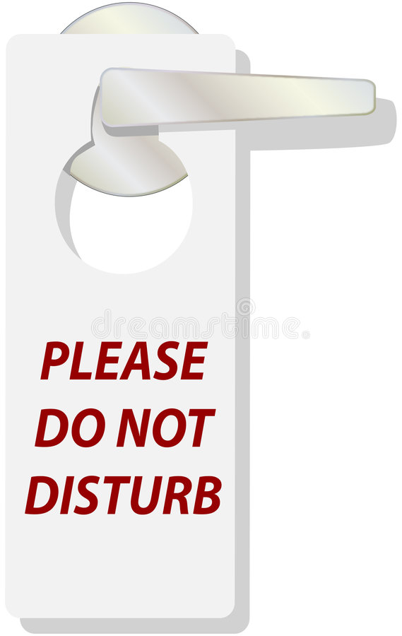 DO NOT DISTURB tag sign stock illustration