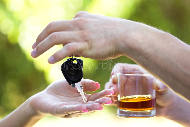 Do not drink when you drive. Be responsible for yourself and others royalty free stock image