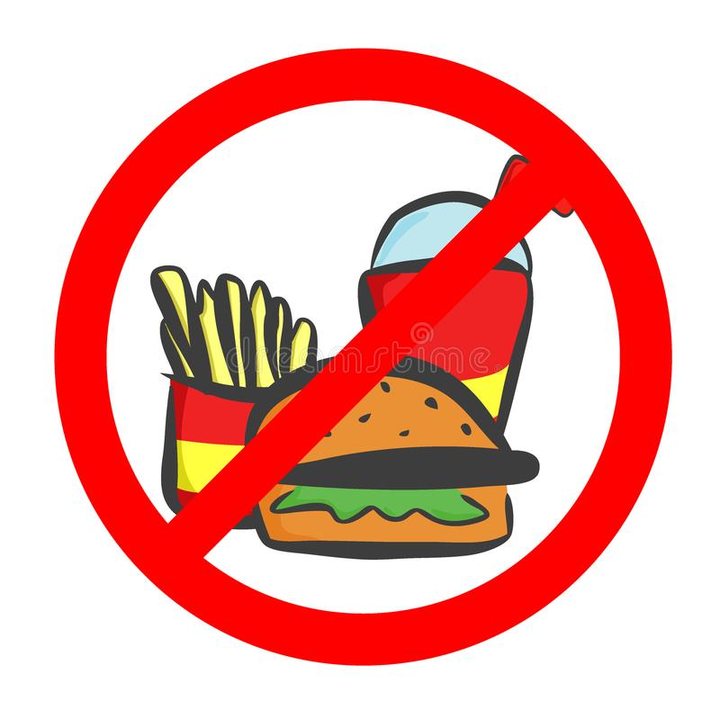 Do not eat and drink symbol. No eating or drinking, prohibition sign.Vector illustration. vector illustration