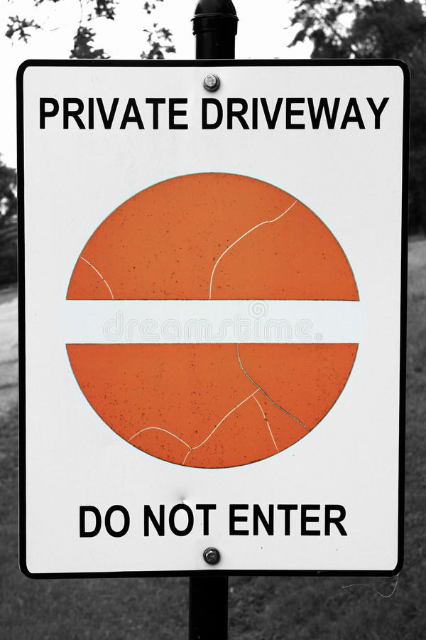 Do Not Enter stock image