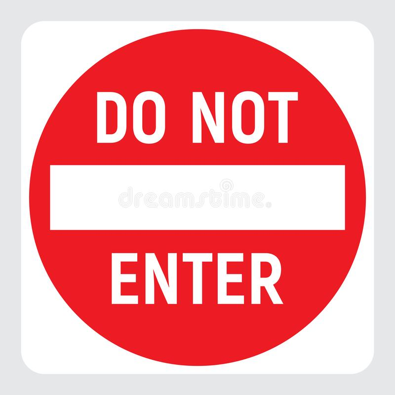 Free Do Not Enter Red Icon, No Passage Traffic Sign, Prohibited Warning Road Sign, Stop Vector Illustration. Royalty Free Stock Images - 215583229
