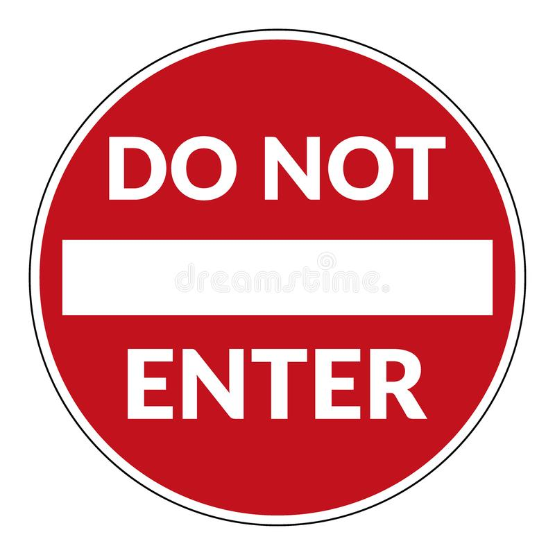 Free Do Not Enter Sign Stock Image - 123200421