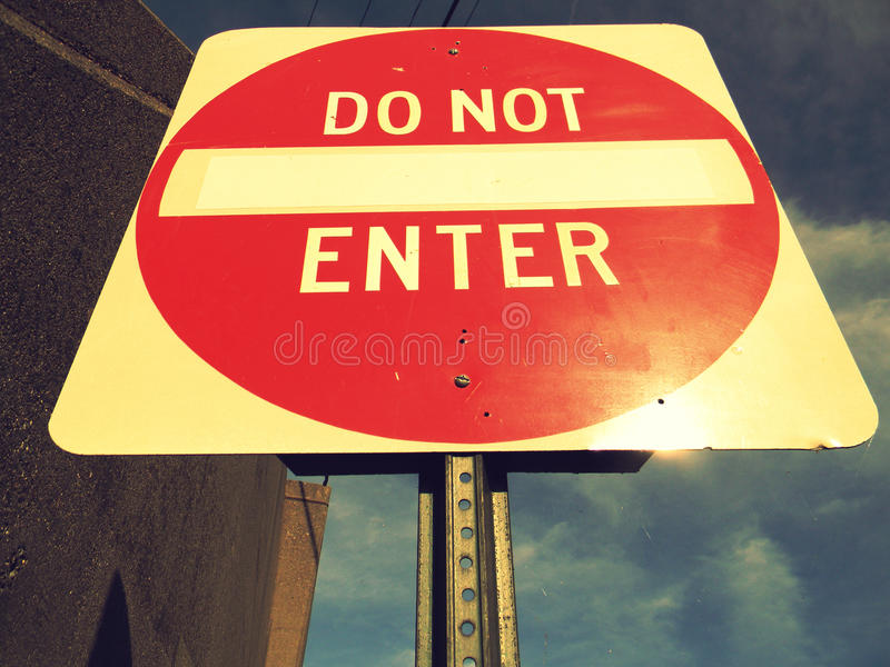 Download Do Not Enter Sign stock image. Image of highway, street - 17388319