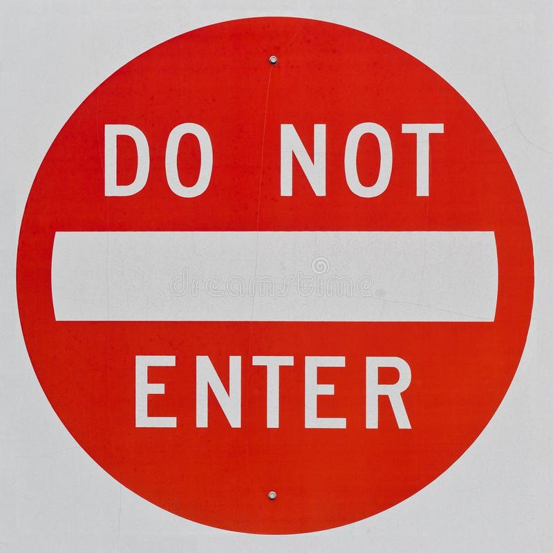 Do Not Enter Sign royalty free stock image