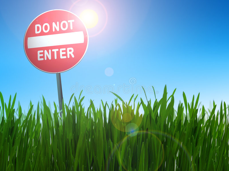 Do not enter sign royalty free stock photography