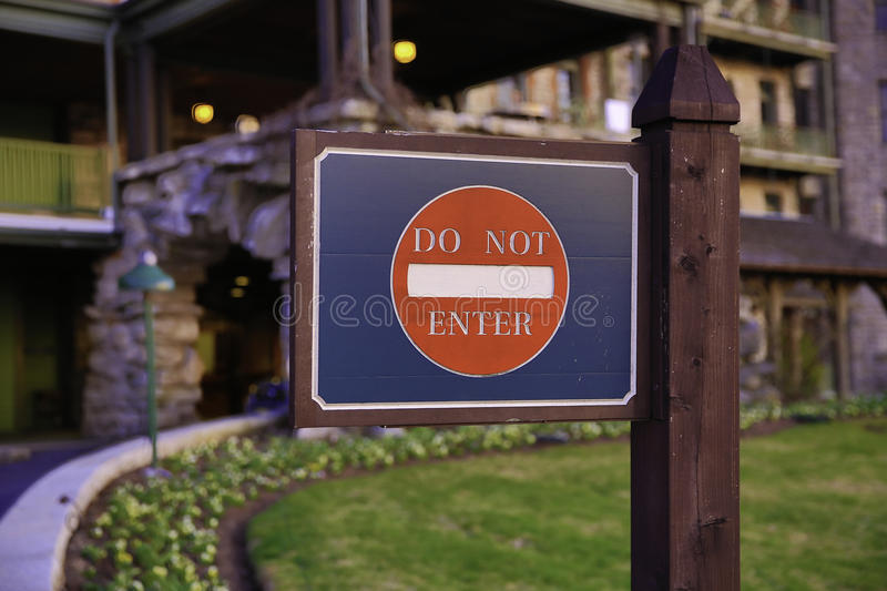 Download Do Not Enter Sign stock image. Image of property, fence - 39947829