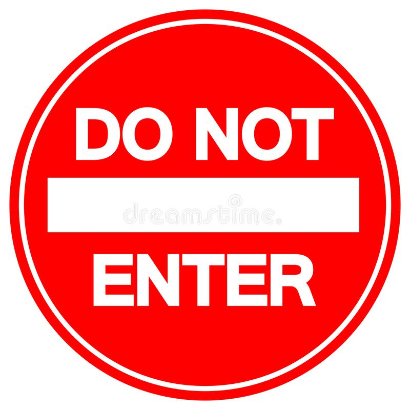 Free Do Not Enter Street Sign,Vector Illustration, Isolate On White Background Label. EPS10 Stock Photography - 165832842