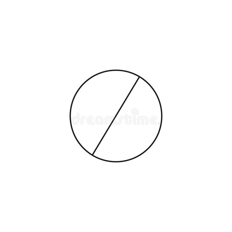 Do not entry line icon; prohibition sign; forbidden not allowed; vector graphics; a linear pattern on a white background. Do not entry line icon; prohibition royalty free illustration