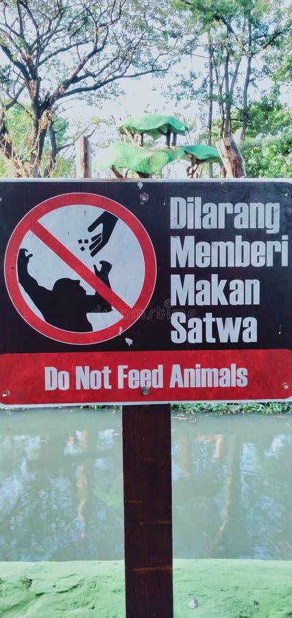 Do not feed animals royalty free stock photo