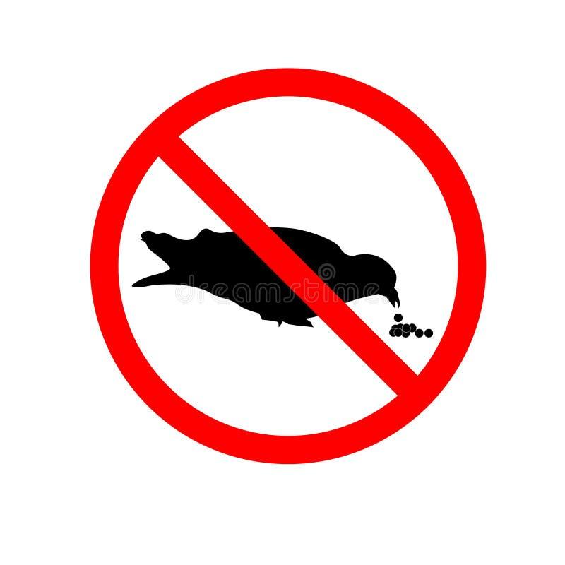 Do not feed pigeons sign. Eps ten stock illustration