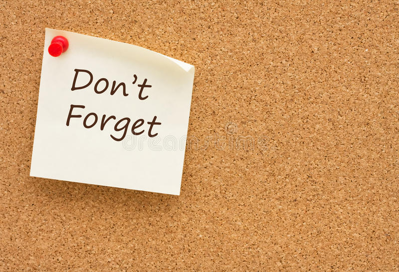 Download Do Not Forget Royalty Free Stock Image - Image: 20846806