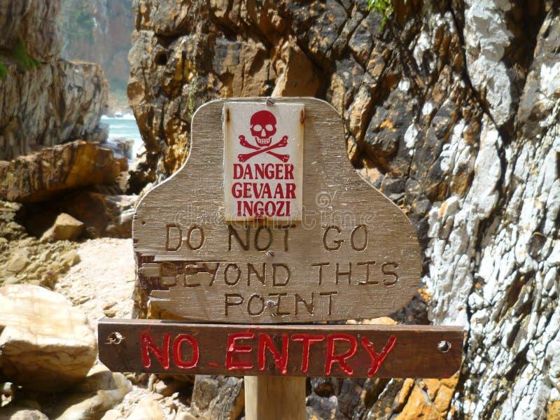 Do not go beyond - danger!
