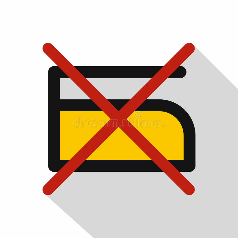 Do Not Iron Icon Flat Style Stock Vector Illustration Of Care