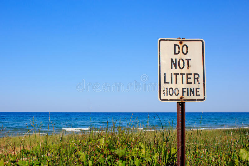 Do Not Litter Royalty Free Stock Photography