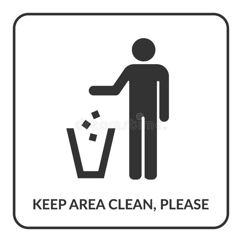 Do not litter sign stock illustration