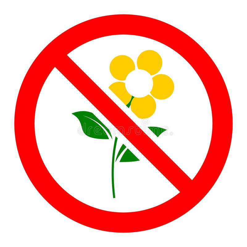 Free Do Not Pick Flowers Sign Stock Photography - 167702952