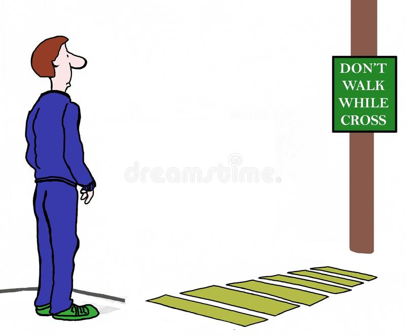 Download Do not power walk sign stock illustration. Image of conflict - 35921071