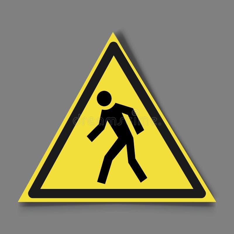 Do not run, prohibition sign. Running prohibited, royalty free illustration