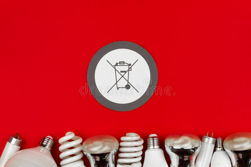 White Trash icon sign isolated on red background stock photography