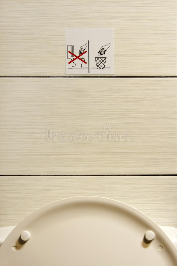Do Not Throw the Paper in The Toilet royalty free stock images