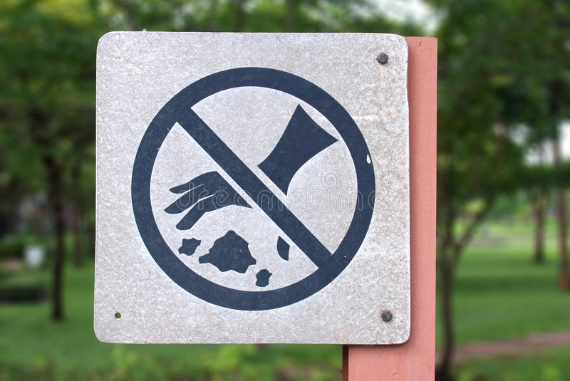 Download Do not throw rubbish sign stock photo. Image of waste - 21103114