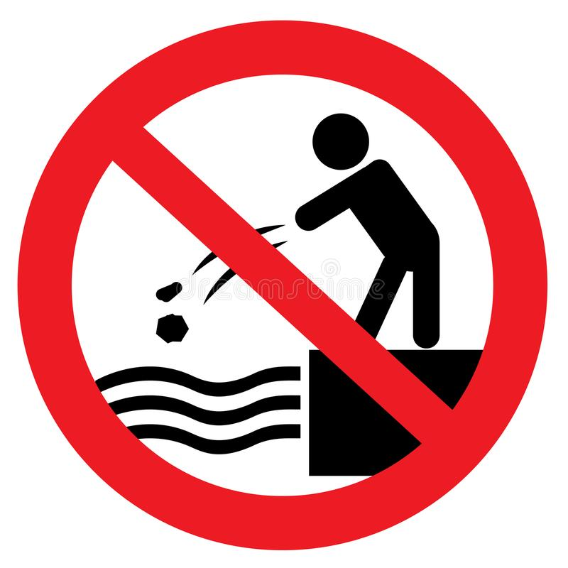 Free Do Not Throw Stones Into Water Stock Photography - 118981562