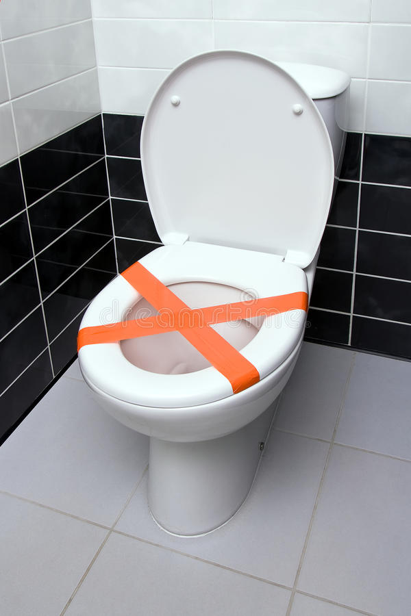 Do Not Throw Trash In Toilet Stock Image