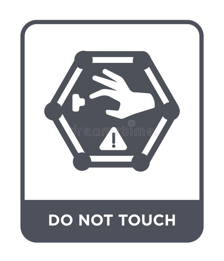 do not touch icon in trendy design style. do not touch icon isolated on white background. do not touch vector icon simple and vector illustration