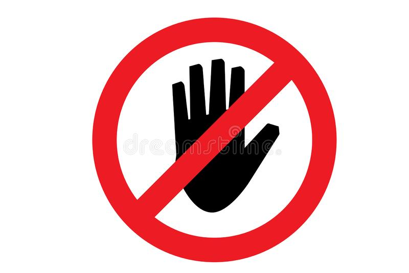 Do not touch icon. Vector illustration royalty free illustration