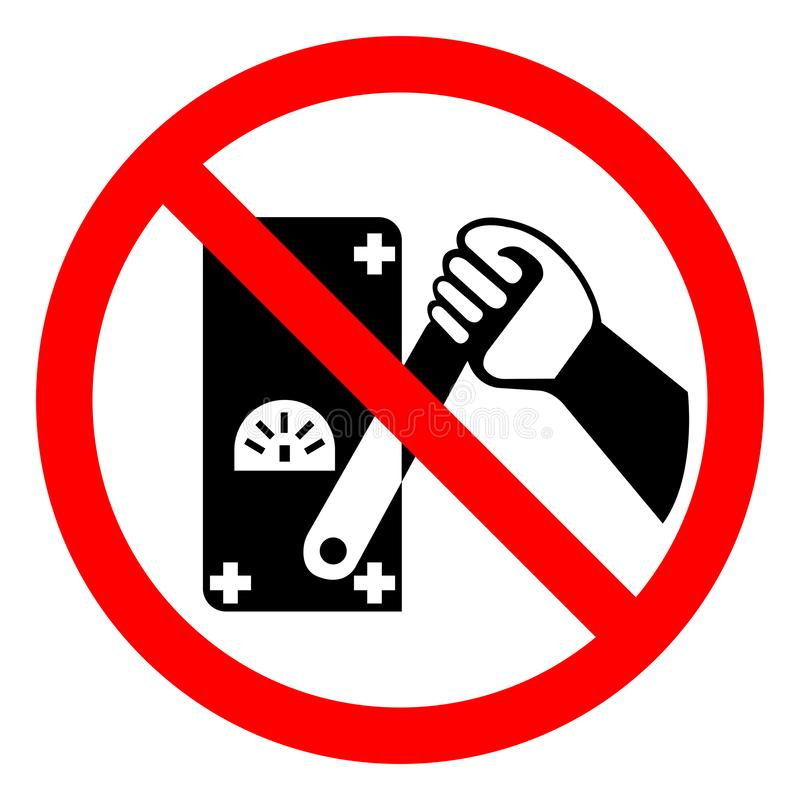 Do Not Touch Men Working Symbol Sign, Vector Illustration, Isolated On White Background,Icon .EPS10 stock illustration