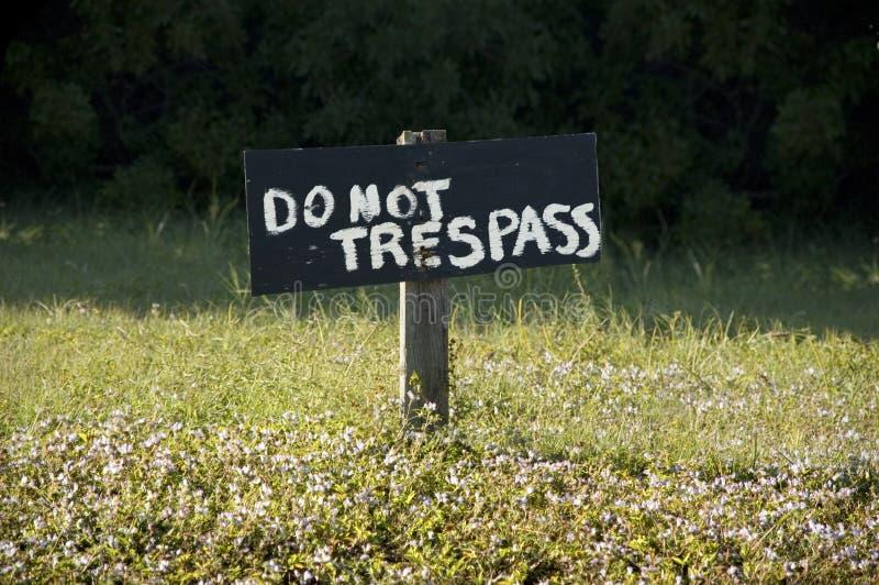 Do not Trespass! stock images