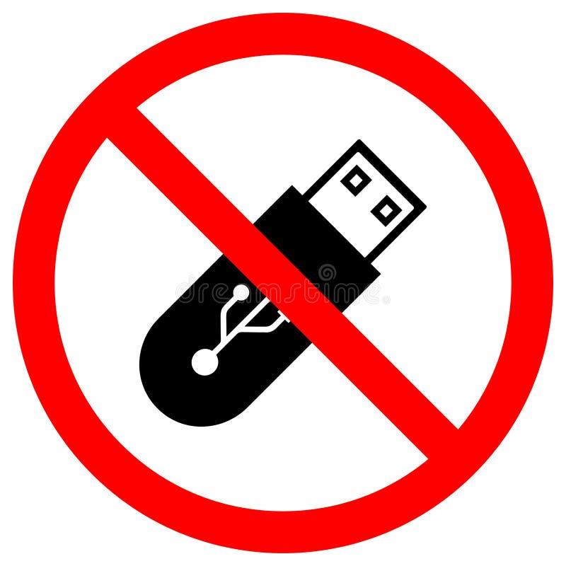 Do Not Use Flash Drive Symbol Sign Isolate On White Background,Vector Illustration EPS.10 royalty free illustration