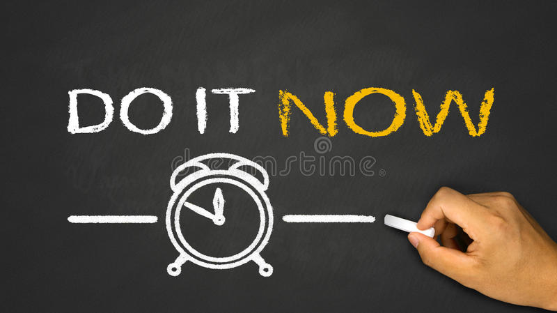 do it now! stock image