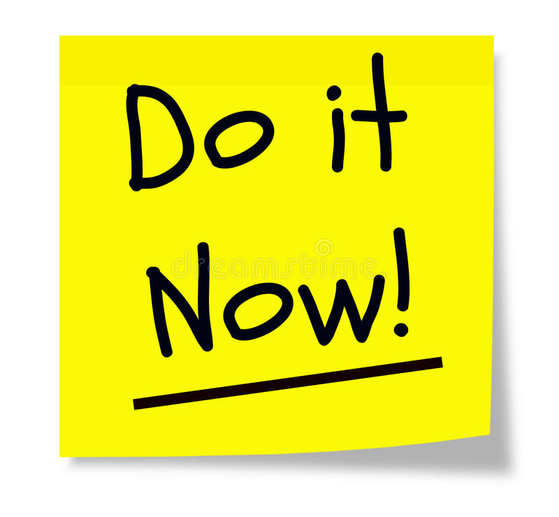 Do It Now Sticky Pad Royalty Free Stock Image