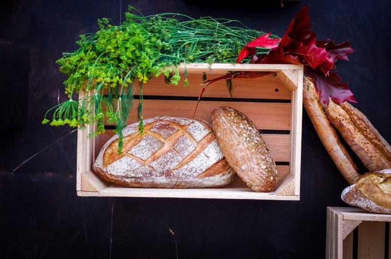 Do outono vida ainda com pão e vegetais imagens de stock royalty free