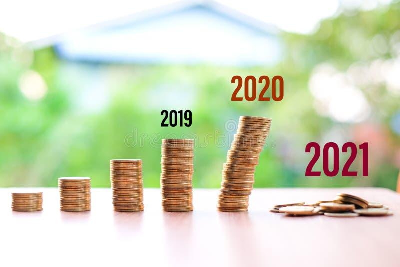 2019 do 2021, Pieniądze zmniejszyły się, nie oszczędzając na bieżącą sytuację Coronavirus lub COVID-19 odizolowane na tle natury  zdjęcie royalty free