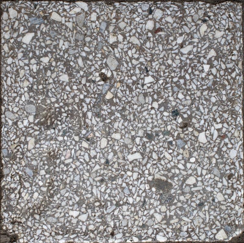 Do preto branco natural da listra do granito pontos azuis fotografia de stock