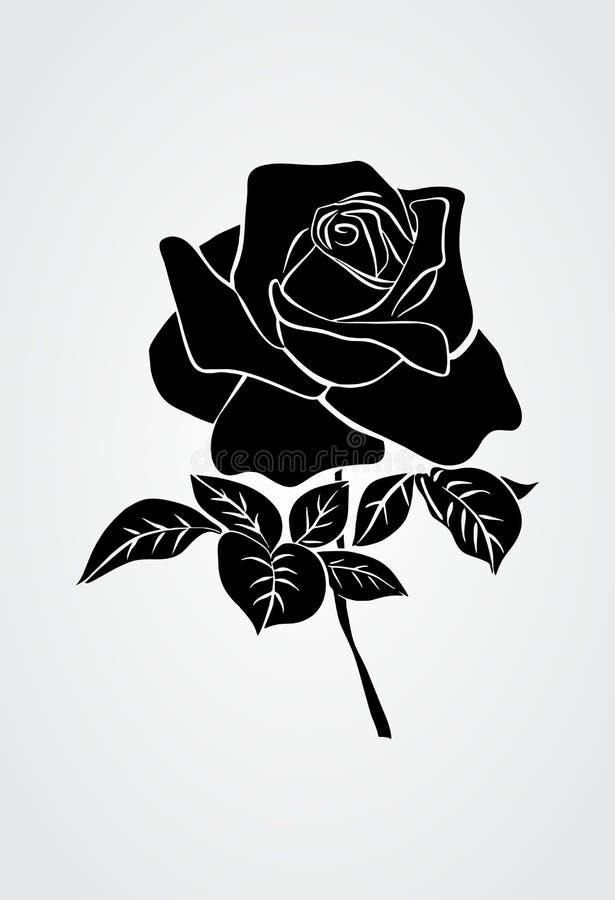 Do preto tribal do vetor do tatto de Rosa ilustração branca ilustração do vetor