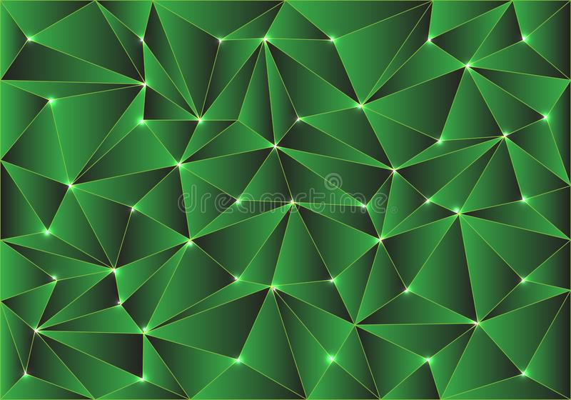 Do projeto lustroso do teste padrão do polígono do verde do sumário vetor moderno da textura do fundo ilustração royalty free
