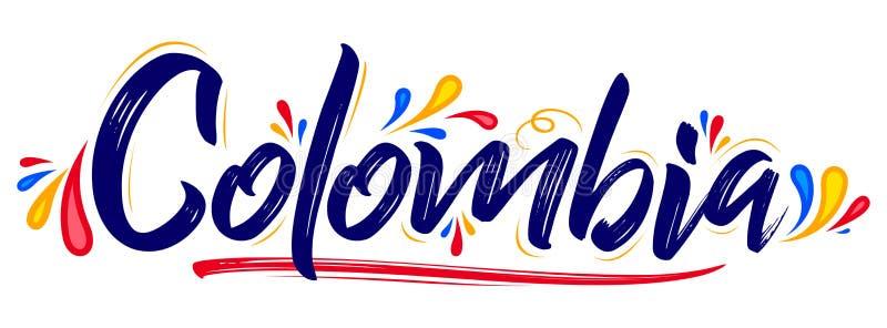 Do projeto patriótico da bandeira de Colômbia ilustração colombiana do vetor das cores da bandeira ilustração royalty free