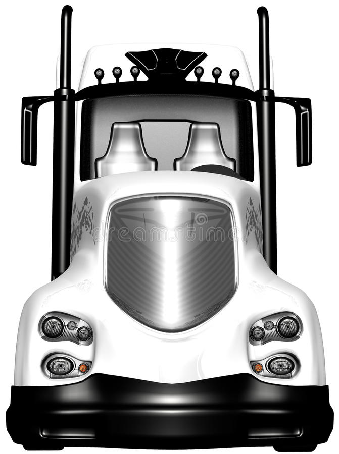 Do reboque de trator noun caminhão semi isolado ilustração do vetor