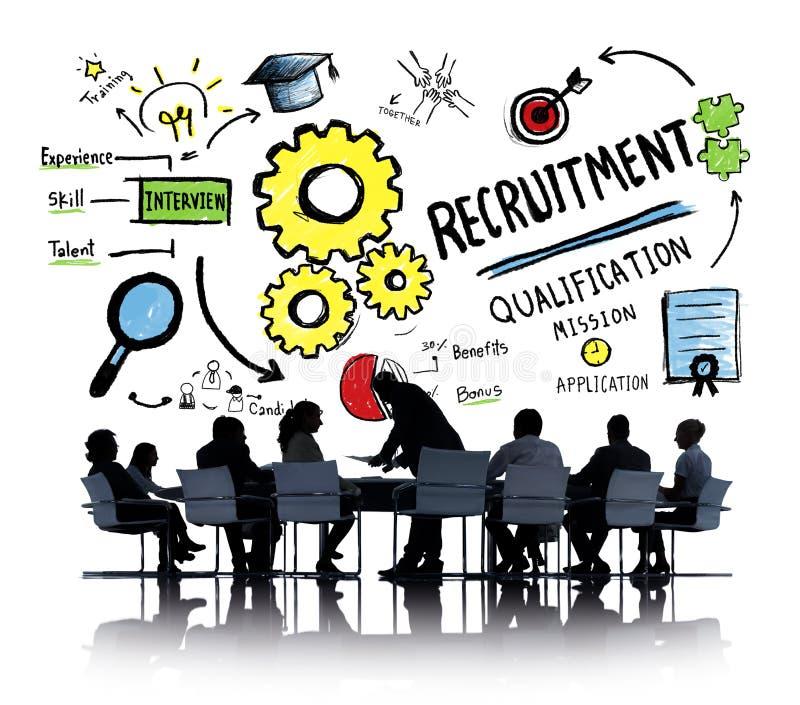 Do recrutamento da afiliação étnica da reunião executivos do conceito da discussão fotos de stock