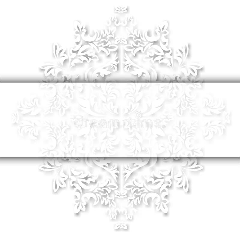 Do redemoinho retro floral barroco da folha do acanthus do estilo da antiguidade do teste padr?o da beira da gravura do ornamento ilustração royalty free