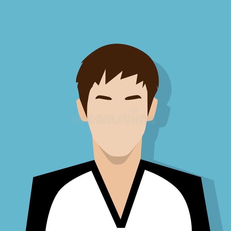 Do retrato masculino do avatar do ícone do perfil pessoa ocasional ilustração royalty free